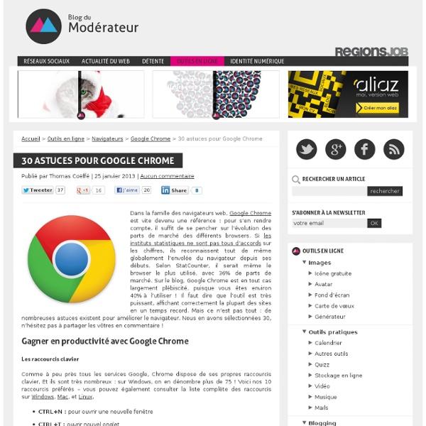 30 astuces pour Google Chrome