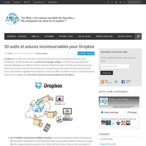 50 outils et astuces incontournables pour Dropbox