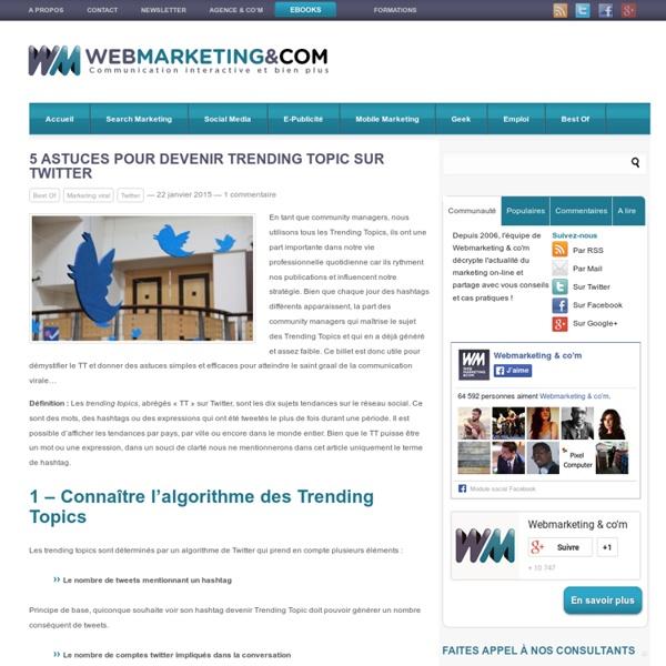 5 astuces pour devenir Trending Topic sur Twitter