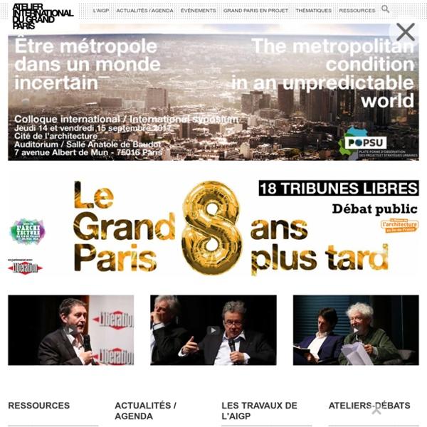 AIGP - Atelier International du Grand Paris