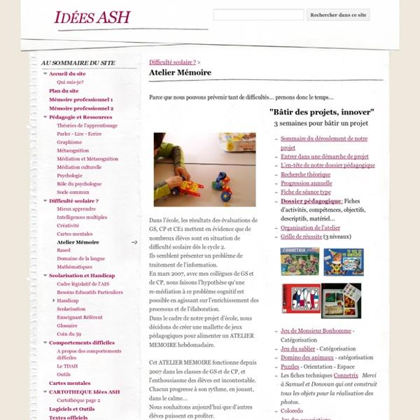 Atelier Mémoire - Idées ASH