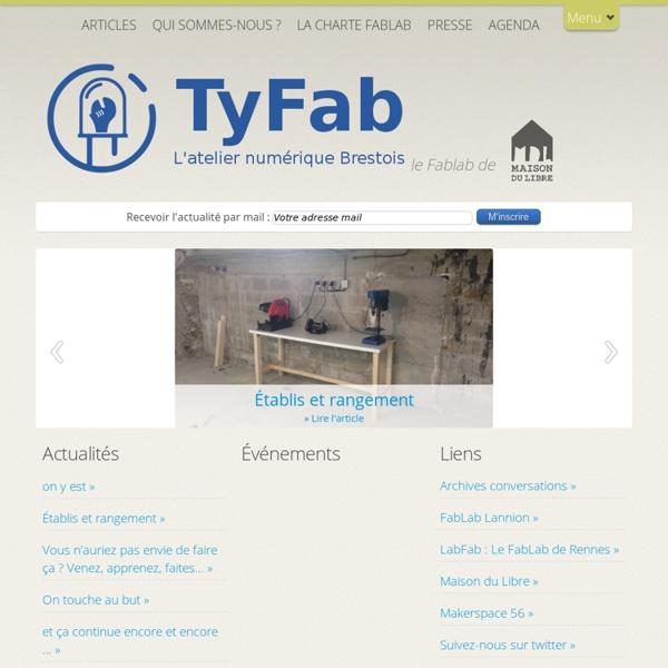 TyFab L'atelier numérique Brestois » TyFab