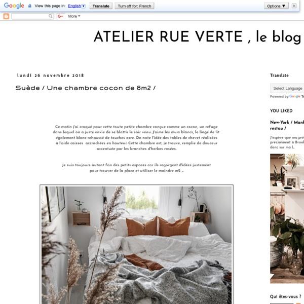 ATELIER RUE VERTE le blog