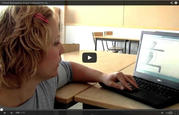 Filmad återkoppling skapar kvalitetstid för eleverna