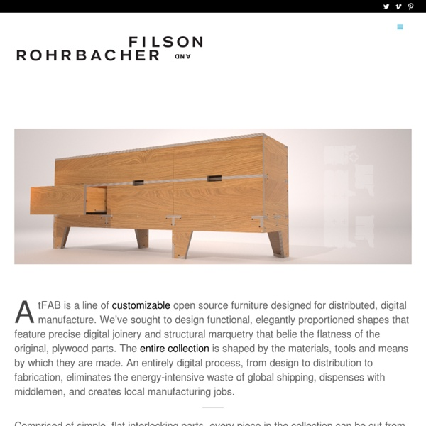 AtFAB Open Source Furniture