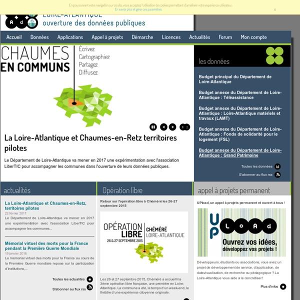 Loire-Atlantique ouverture des données: Accueil