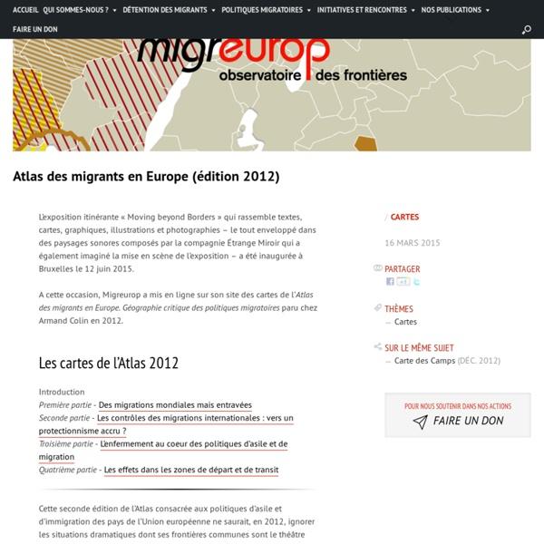Atlas des migrants en Europe (édition 2012)