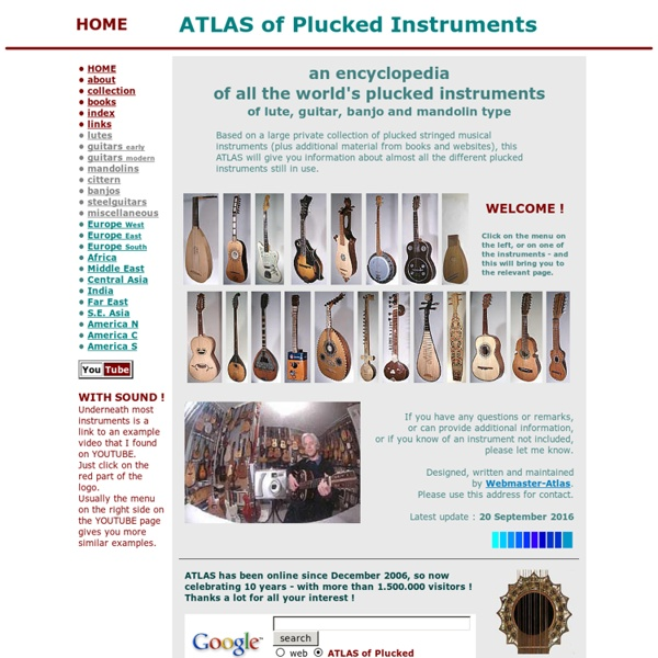 ATLAS of Plucked Instruments