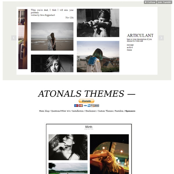 Themes by atonals