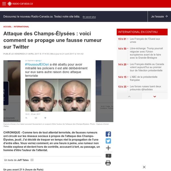 Attaque des Champs-Élysées: voici comment se propage une fausse rumeur surTwitter