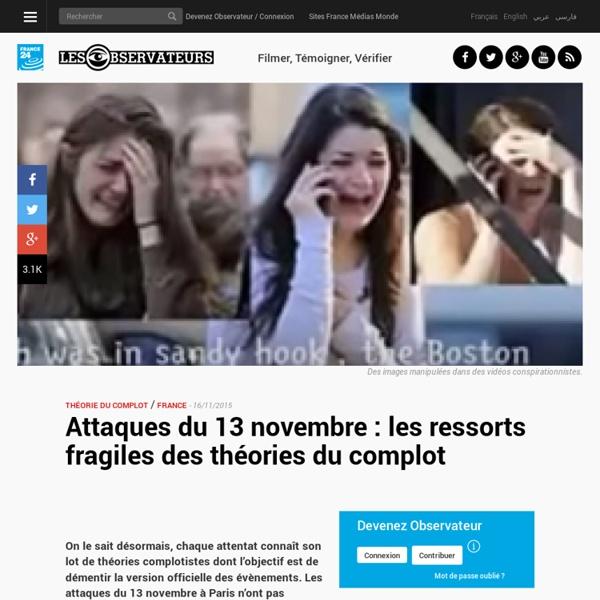 Attaques du 13 novembre : les ressorts fragiles des théories du complot