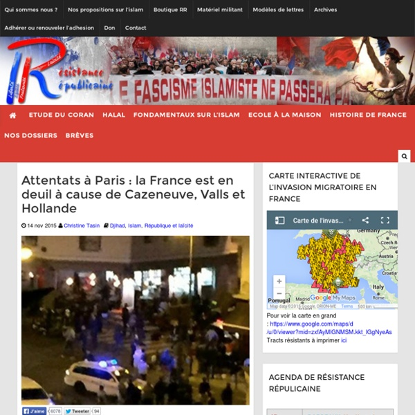 Attentats à Paris : la France est en deuil à cause de Cazeneuve, Valls et Hollande