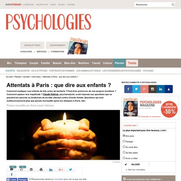 Attentats à Paris - Charlie Hebdo : que dire aux enfants