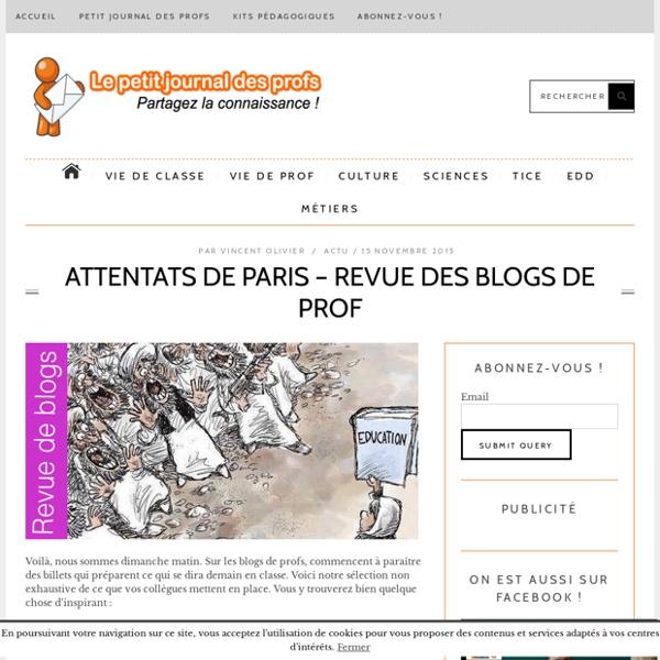 Attentats de Paris - revue des blogs de prof