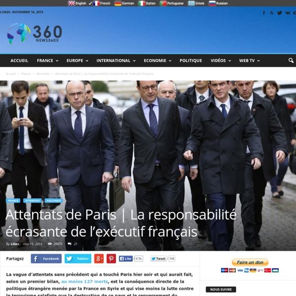 La responsabilité écrasante de l'exécutif français