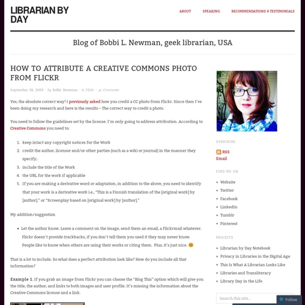 How to attribute a Creative Commons photo from Flickr