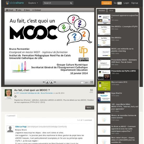 Au fait, c'est quoi un MOOC ?