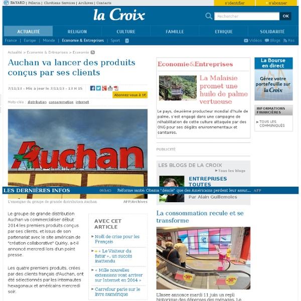 Auchan va lancer des produits conçus par ses clients