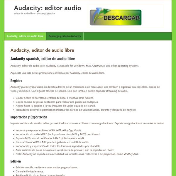 Audacity (spanish) descarga gratuita
