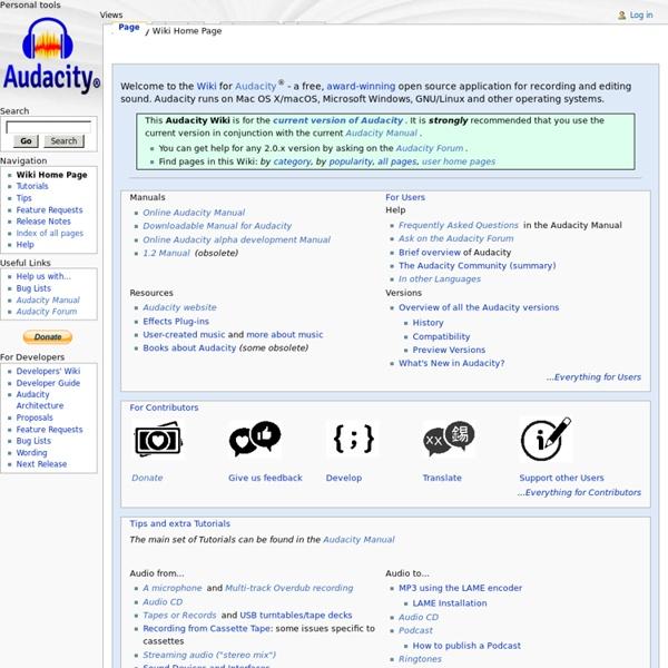 Audacity Wiki
