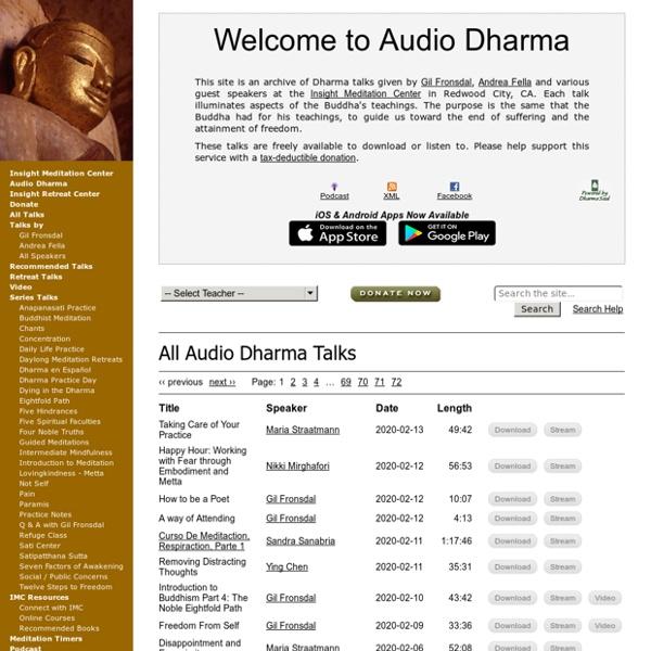 Welcome to Audio Dharma