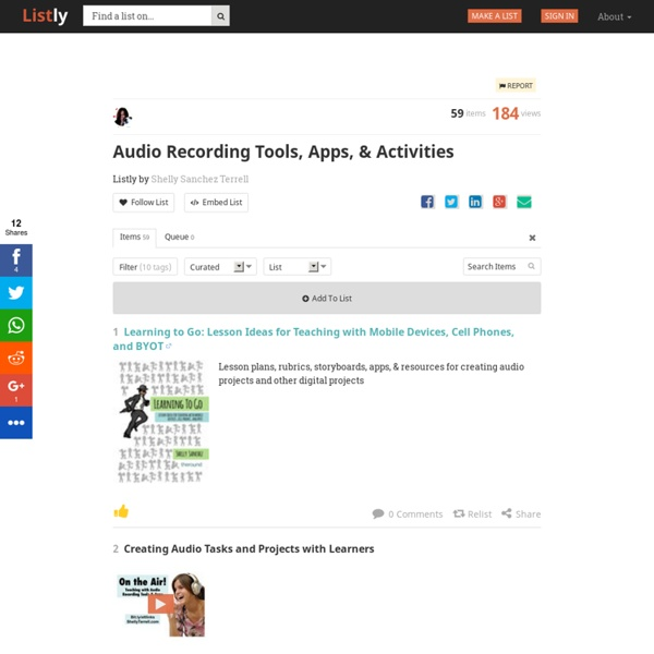Audio Recording Tools, Apps, & Activities