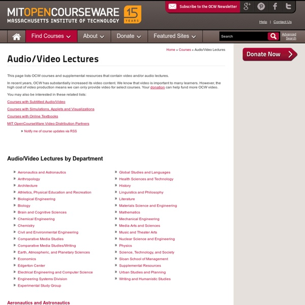 Audio/Video Lectures