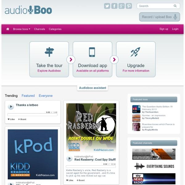 Audioboo : enregistrez et partagez vos sons