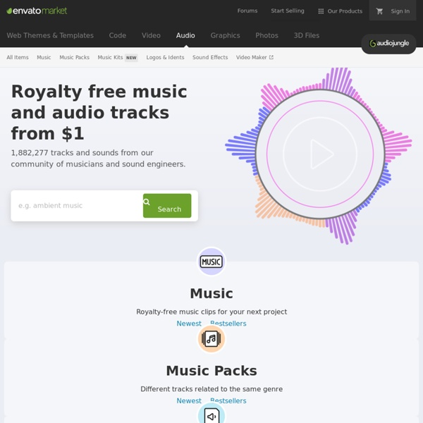 Royalty Free Music & Audio from AudioJungle