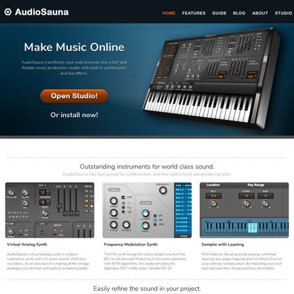 AudioSauna - Free Music Software - Make Music Online