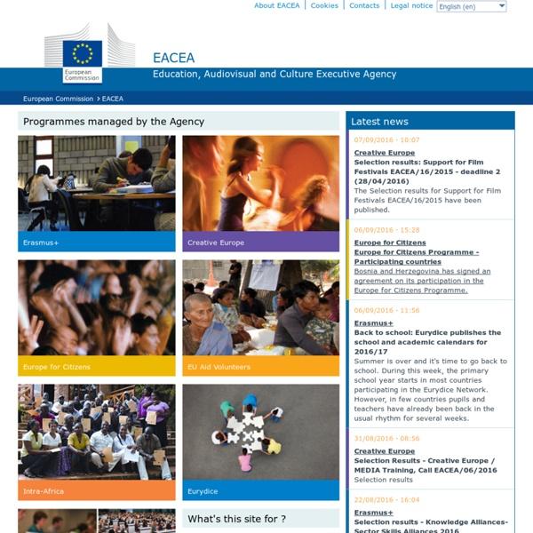 Agència europea educació - EACEA - The Education, Audiovisual and Culture Executive Agency of the European Union