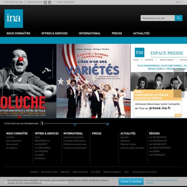 Institut national de l'audiovisuel - site institutionnel, portail