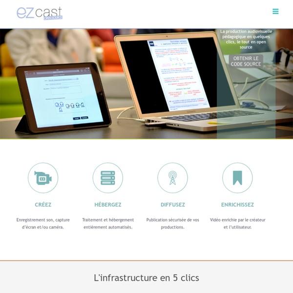 EZcast - La production audiovisuelle pédagogique en quelques clics.