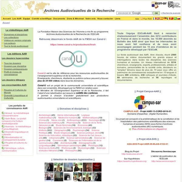 Les Archives Audiovisuelles de la Recherche