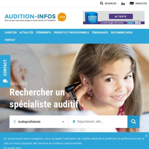 Audition-infos.org – Les professionnels – L'actualité – Le matériel et les services – Les informations pratiques