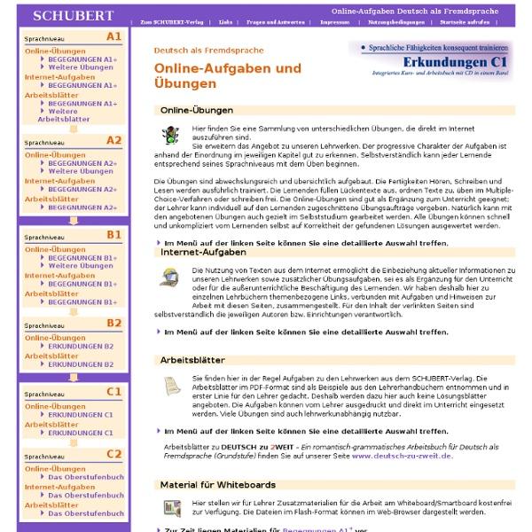 onlineaufgaben deutsch als fremdsprache pearltrees