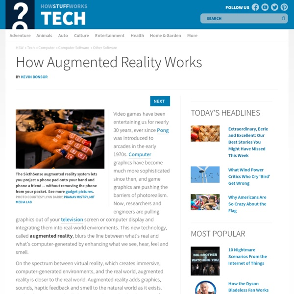 How Augmented Reality Will Work""