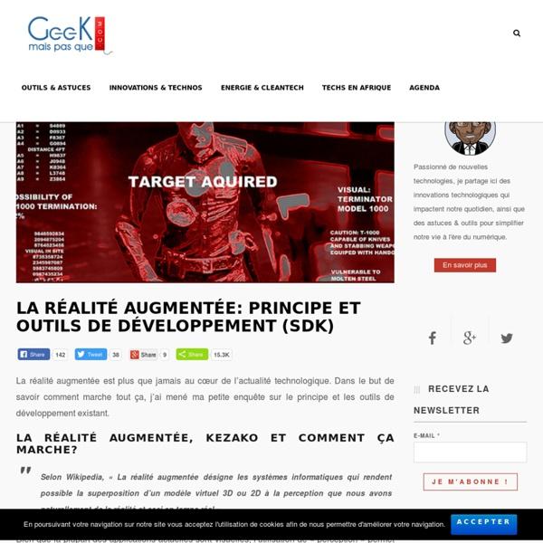 La réalité augmentée: principe et outils de développement (SDK) - Geek mais pas que...