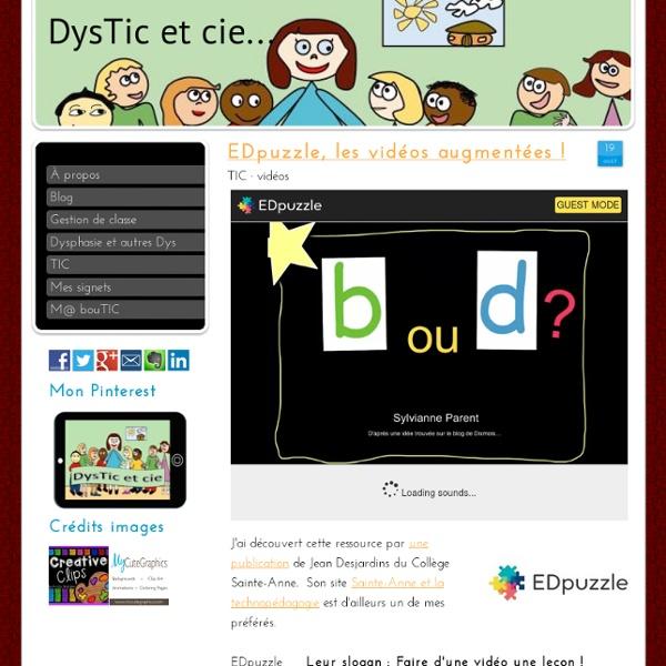 EDpuzzle, les vidéos augmentées ! - Site de dysticetcie !