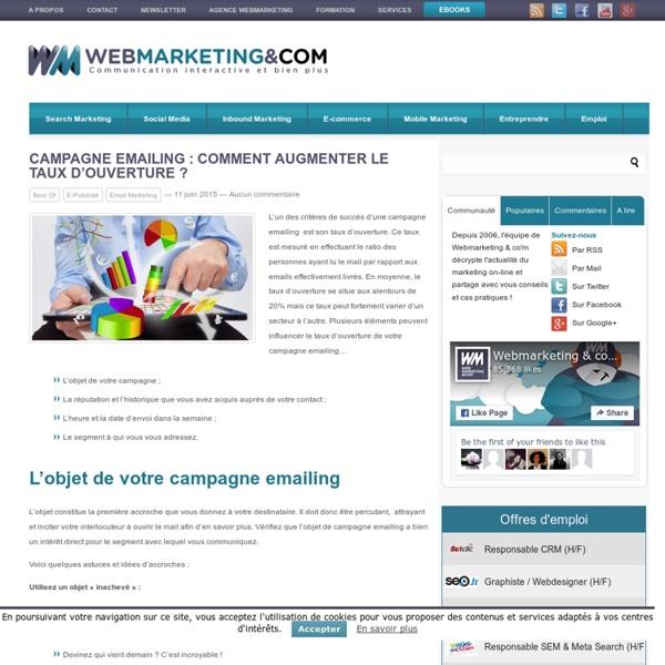 Augmentez le taux d'ouverture de votre campagne Emailing