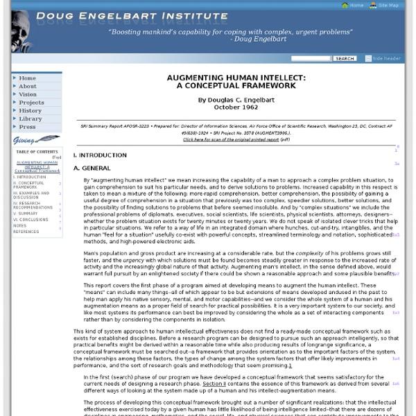 Augmenting Human Intellect: A Conceptual Framework - 1962 (AUGMENT,3906,)