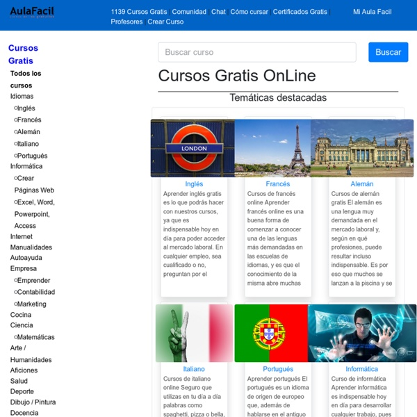 AulaFacil.com: Los mejores cursos gratis online