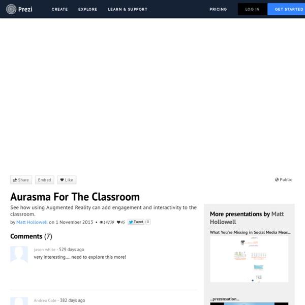 Aurasma For The Classroom by Matt Hollowell on Prezi