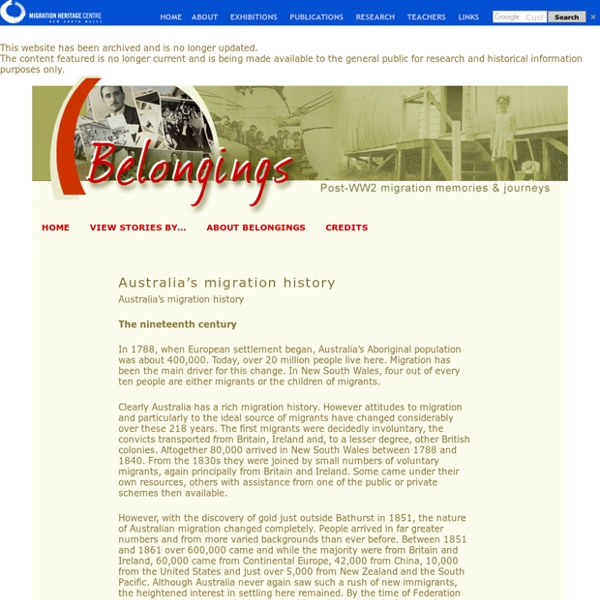 Australia's migration history