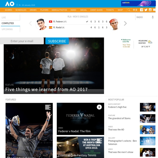 Home - Australian Open Tennis Championships 2017 - The Grand Slam of Asia/Pacific
