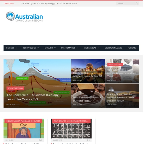 HomeAustralian Curriculum Lessons - Lesson Plans, Classroom Activities and Games for Teachers Teaching in Australia