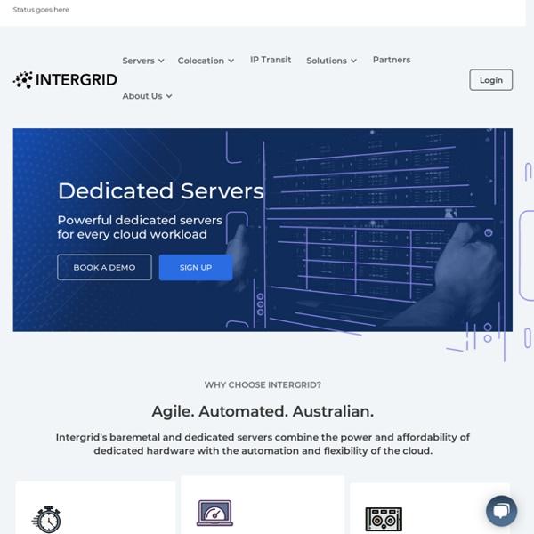 Australian Dedicated Servers - Intergrid