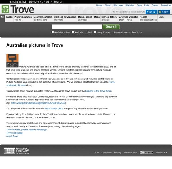 Australian pictures in Trove