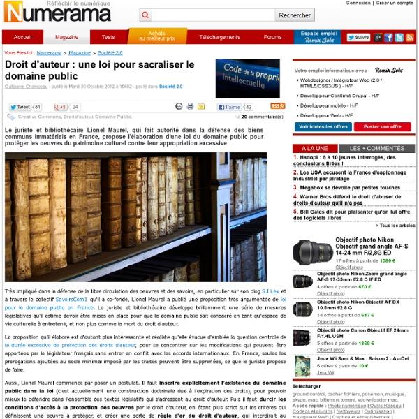 Droit d'auteur : une loi pour sacraliser le domaine public
