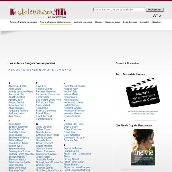 Auteurs français contemporains